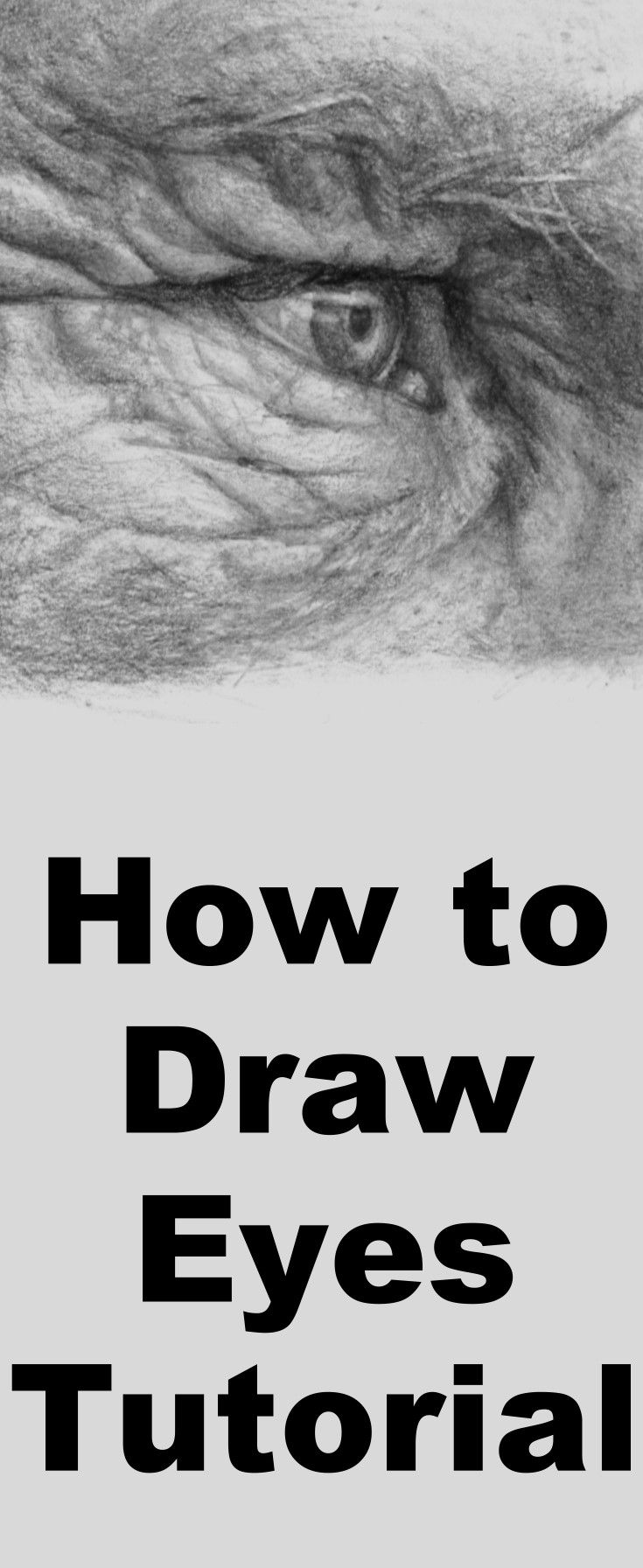 Learn to draw eyes with this pencil drawing lesson