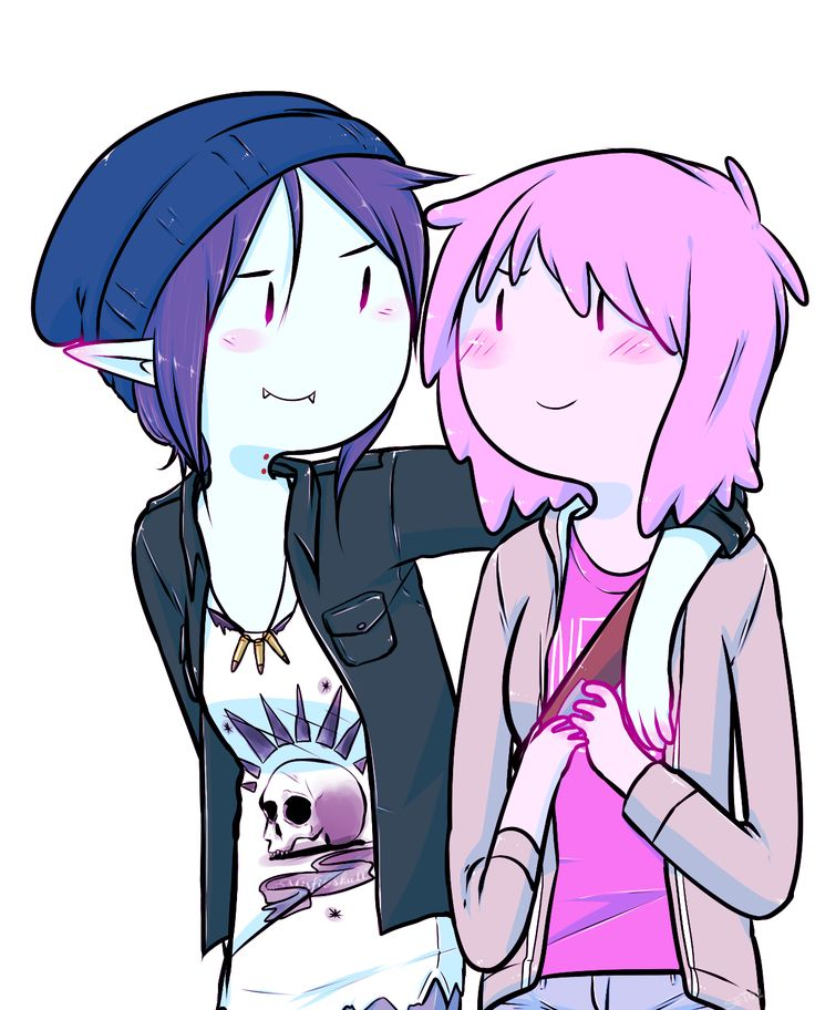 I remember seeing this before playing the game not understanding that it was inspired by it but still loving it. Now when I've played it I love this even more | Bubbline meets Pricefield | Marceline x Princess Bubblegum | Chloe Price x Max Caulfield | Adventure Time | Life is Strange