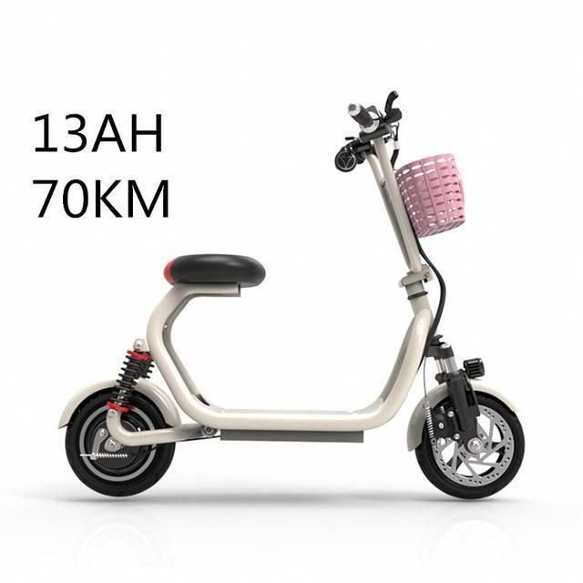 2 Wheels Folding Lithium Electric E Scooter Adult Bike 10 Inch