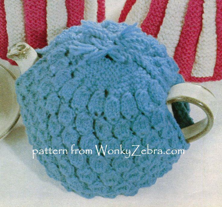 WZ896 Tea cosy pattern from WonkyZebra; lovely textured stitch on this vintage tea cosy. Pattern from WonkyZebra.