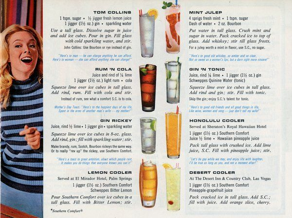 50 Alcoholic Beverages And Vintage Cocktails (1968)