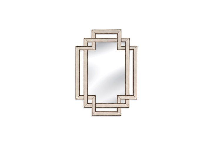 "Powder room mirror - could be cool hung horizontally!  32"" high Modern Mirror, Bronze"