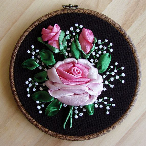 Hey, I found this really awesome Etsy listing at https://www.etsy.com/listing/265067526/ribbon-embroidery-hoop-art-wall-hangings