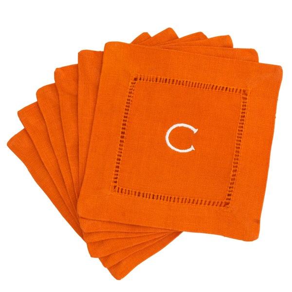 Monogrammed Block Letter Cocktail Napkins. $20 for a set of 6.