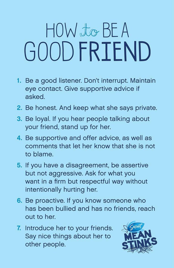 How to be a good friend...a good discussion or take-home piece