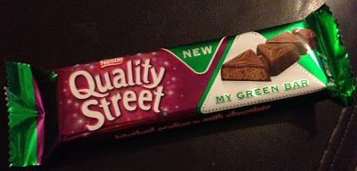 FOODSTUFF FINDS: Quality Street – New: My Green Bar (Local Newsagent) [By @Cinabar]