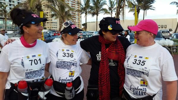 What a welcome. Yay for @JaneLinleyT @JaneLinleyT  we now have another Rosetta Rose #BigWalkDurban @ecr9495