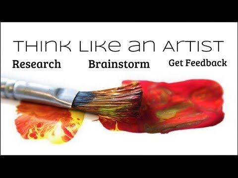 Think Like an Artist | Smart With Art.  Talks about developing habits like an artist. This would be a good first week of art video