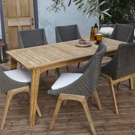 1000 ideas about outdoor tables and chairs on pinterest concrete outdoor table backyard - Concrete effect tafel ...