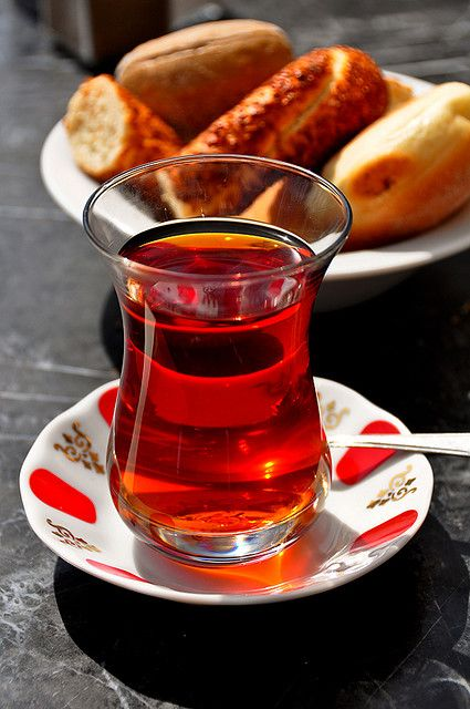 Turkish Cay (Turkish Tea). There's a Turkish bakery in the downtown area where I live where you can get wonderful Turkish tea along with delicious breads and sweets.