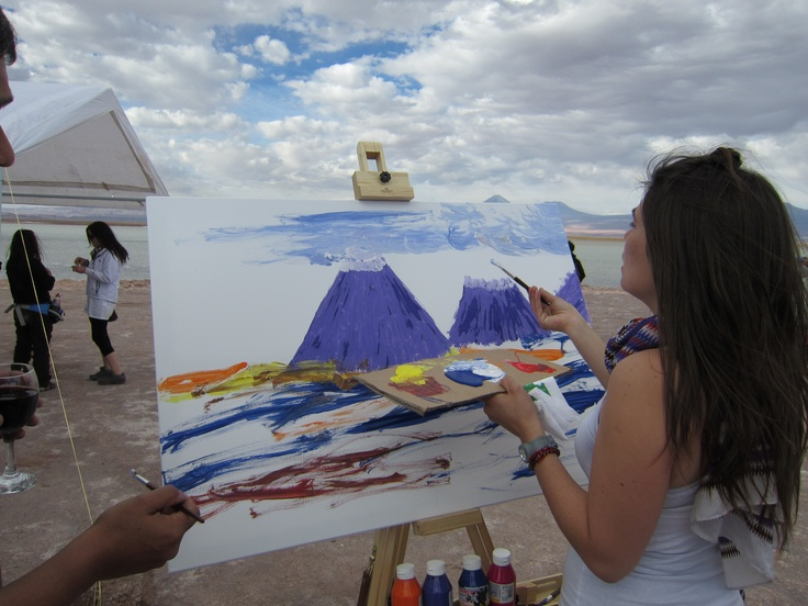Becoming artists on the salt lakes of Atacama. Photo by CD
