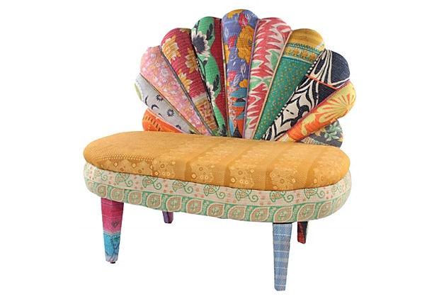Peacock Chair, Golden/Multi  on OneKingsLane.com