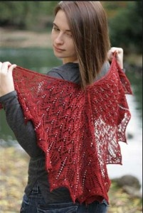 Midsommer/ A Beaded Shawl Pattern by Sivia