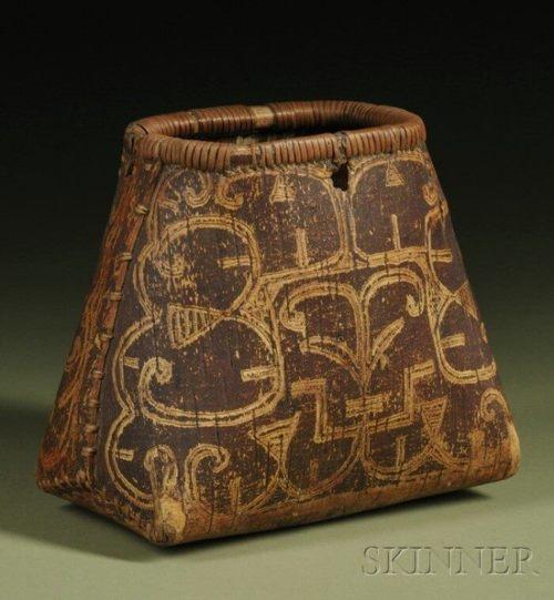 Seneca (New York), Basket, birch bark, c. pre-1850. ...where was the birch bark harvested so long ago...