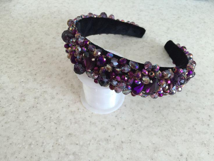 МК! Ободок с кристаллами.  Master Class! Headband with crystals