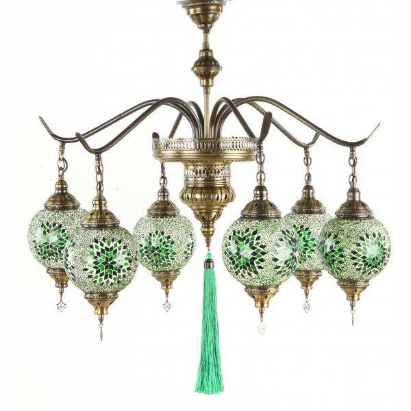 Люстра из стеклянной мозаики, Caravanna, восточный интерьер, турецкие светильники, турецкие лампы, этно, восток, этнический стиль, восточный стиль