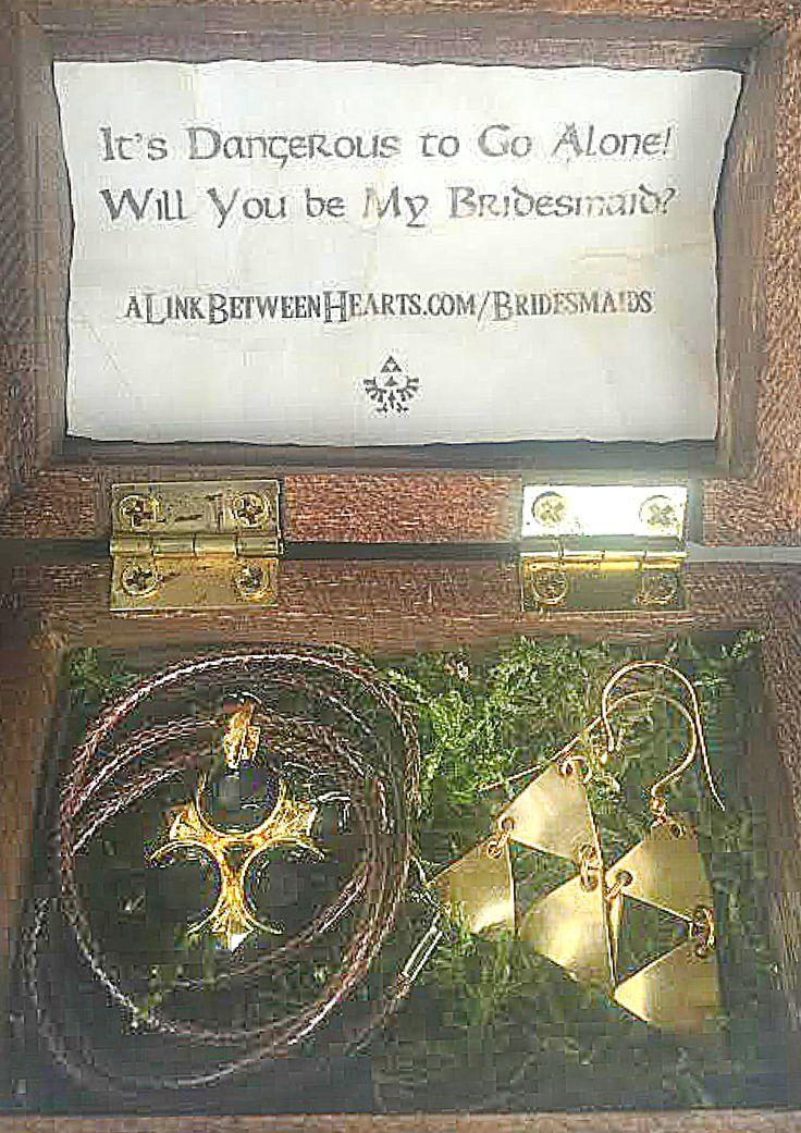 Legend of Zelda Bridesmaid Proposal | A Link Between Hearts, Zelda Wedding
