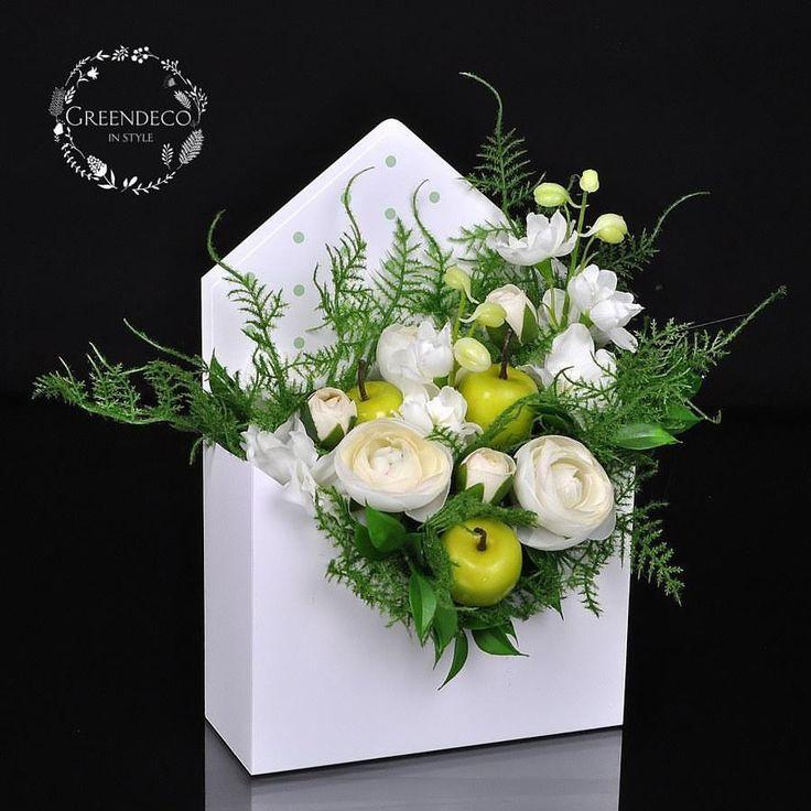 """149 отметок «Нравится», 2 комментариев — """"Greendeco"""" - Online Shop (@pracowniagreendeco) в Instagram: «Listy kwiatami pisane - flowerbox ❤ Zapraszamy na www.greendeco.org #flowersboxes #flowerbox…»"""