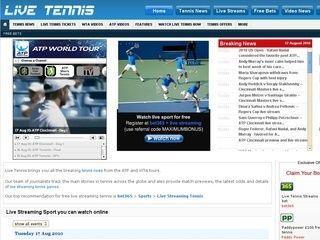 The official Live-Tennis website has so much to offer! #ATPTENNIS #AUSTRALIANOPEN#CHALLENGERTOUR #DAVISCUP#EXHIBITIONEVENTS#FEATURES#FEDCUP  #HOPMANCUP#LIVESTREAMS#LIVETENNISSTREAMS  #OLYMPICTENNIS#TENNISNEWS#TENNISODDS  #TENNISOFFERS#TENNISTICKETS#USOPEN#WIMBLEDON#WTA125S#WTATENNIS#TODAYSMATCHES  #TENNISTWITTERTRACKER
