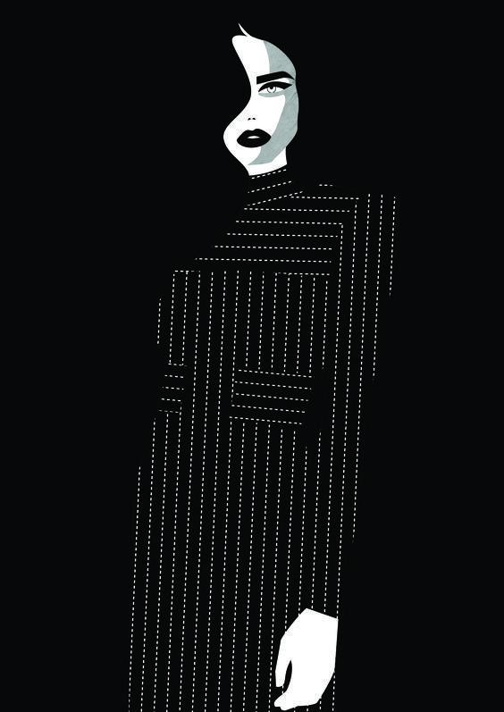 Pinstripe illustration