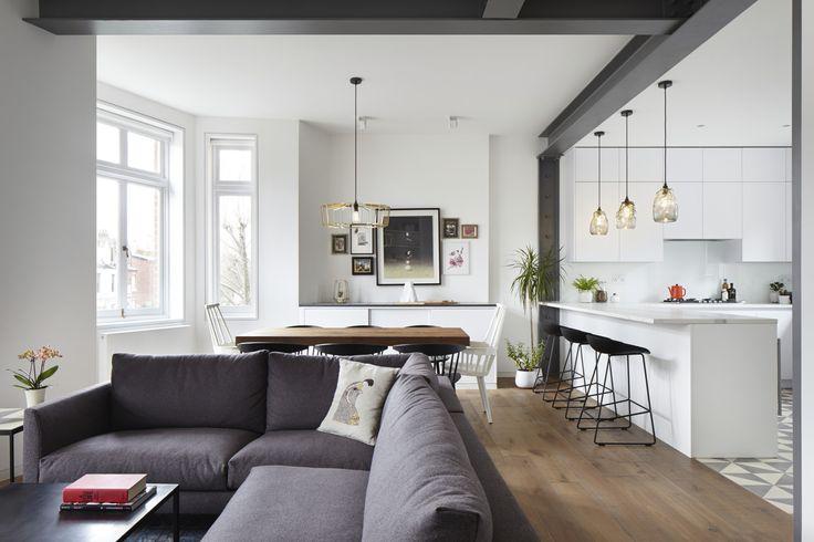 Unire cucina e soggiorno, riorganizzare gli spazi e avere più luce. A Londra la…
