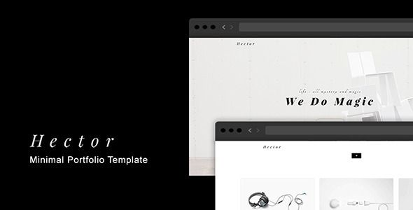 Hector - Minimal Portfolio Template • Download theme ➝ https://themeforest.net/item/hector-minimal-portfolio-template/13604795?ref=pxcr
