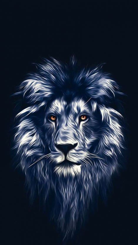 Lion Face Art iPhone Wallpaper - iPhone Wallpapers