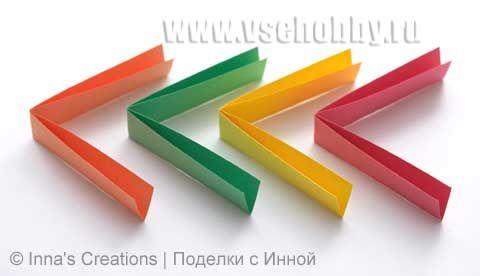 бумажные заготовки для браслета оригами ручной работы