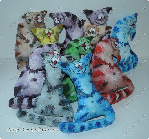 Игрушка Мастер-класс Рисование и живопись Шитьё Разукрашиваем текстильного кота Краска Ткань фото 1 - TUTORIAL