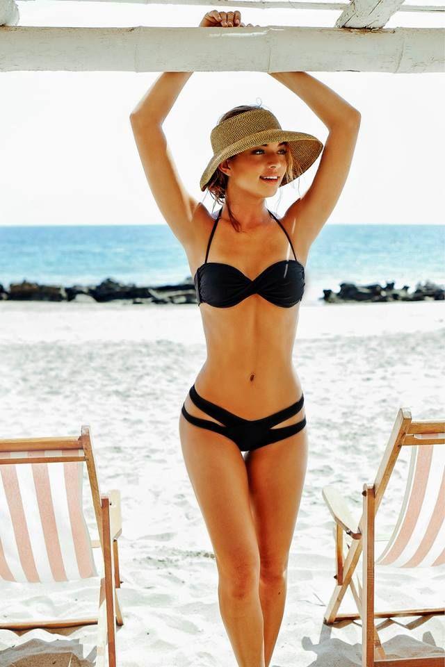 Vestidos De Baño Sol Blanco:pijamas negro atractivo de tiras de encaje bralette superior más