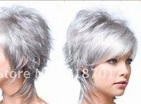 Silver Gray Hair Wigs for Women