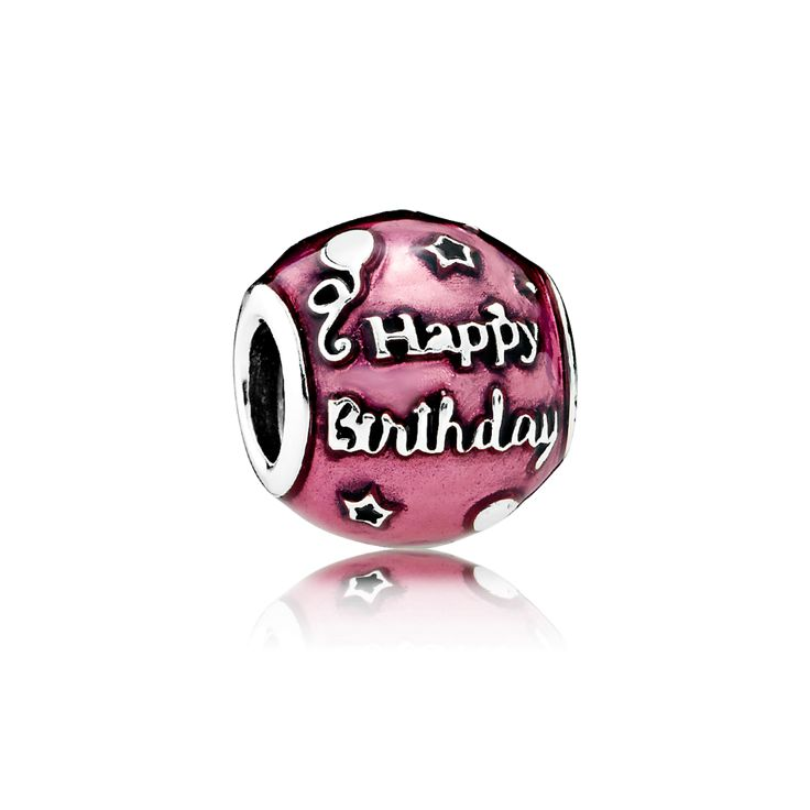 PANDORA | Birthday Celebration, Transparent Cerise Enamel 💗 my BESTIES BIRTHDAY is coming up...I think she would like this, even though she isn't big on pink things..LOL 😝😝