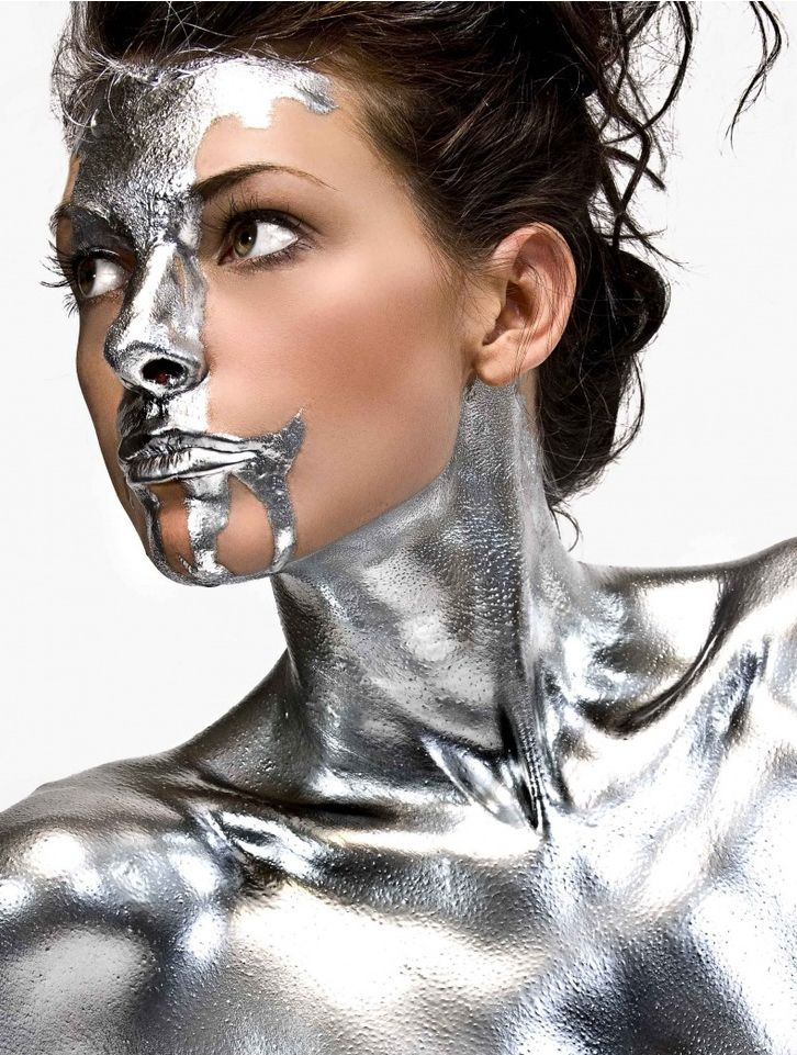 Portrait - Silver - Face - Editorial - Photography