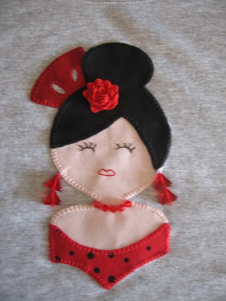 Camiseta gitanita tuneada, patrón de Gitanitas SN
