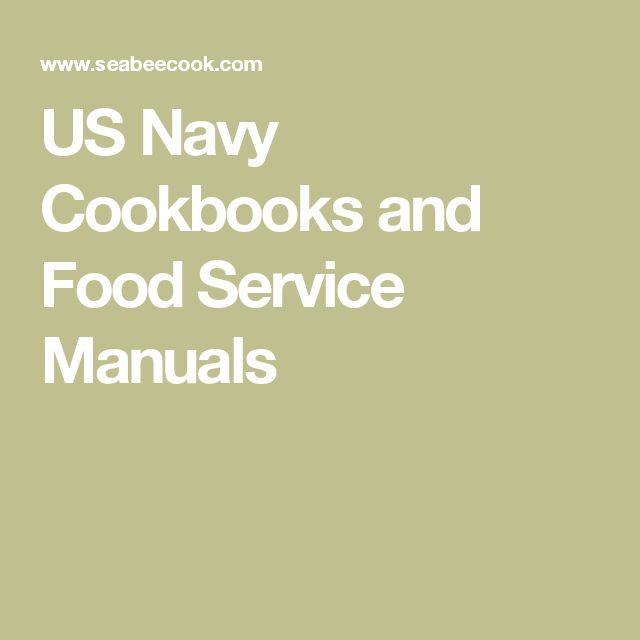 19 best military cooking images on pinterest baking center us navy cookbooks and food service manuals fandeluxe Images