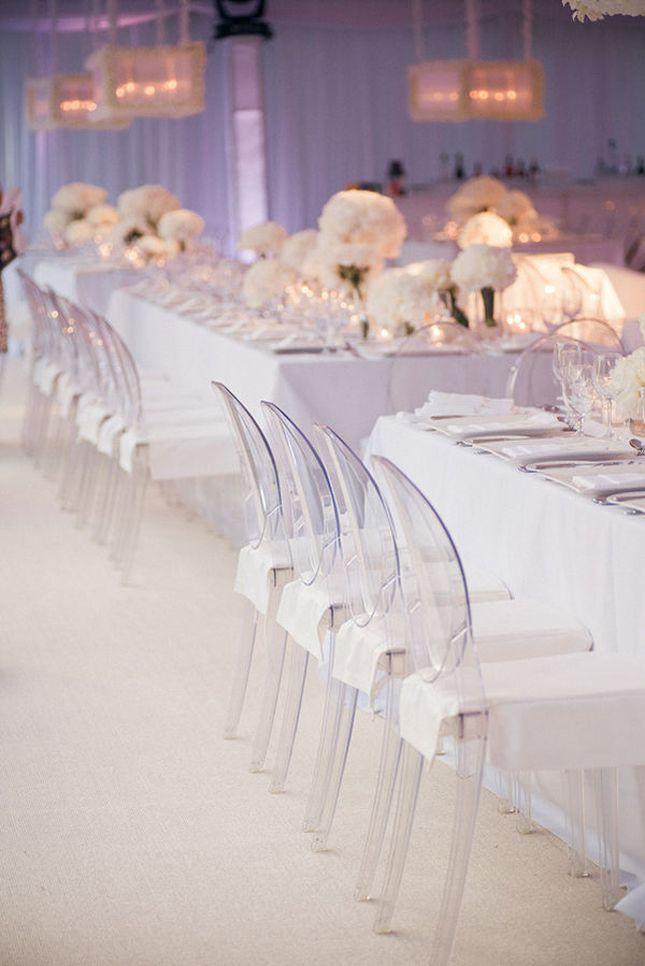 All-White Wedding Decor - Belle The Magazine #whiteweddings #weddings