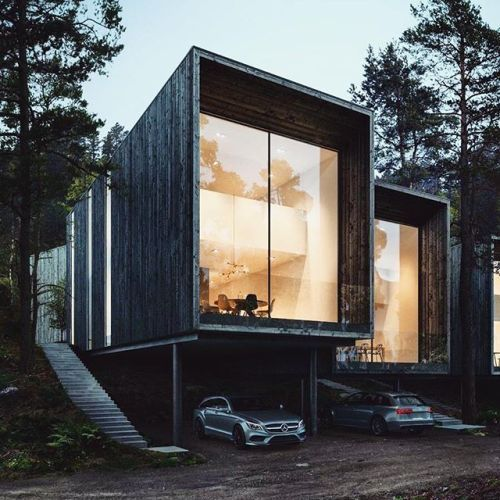 "#architecturedose Rate this House from 1 - 10? ""TALLBACKEN HOUSE CONCEPT"" By @tomorrow_archviz 