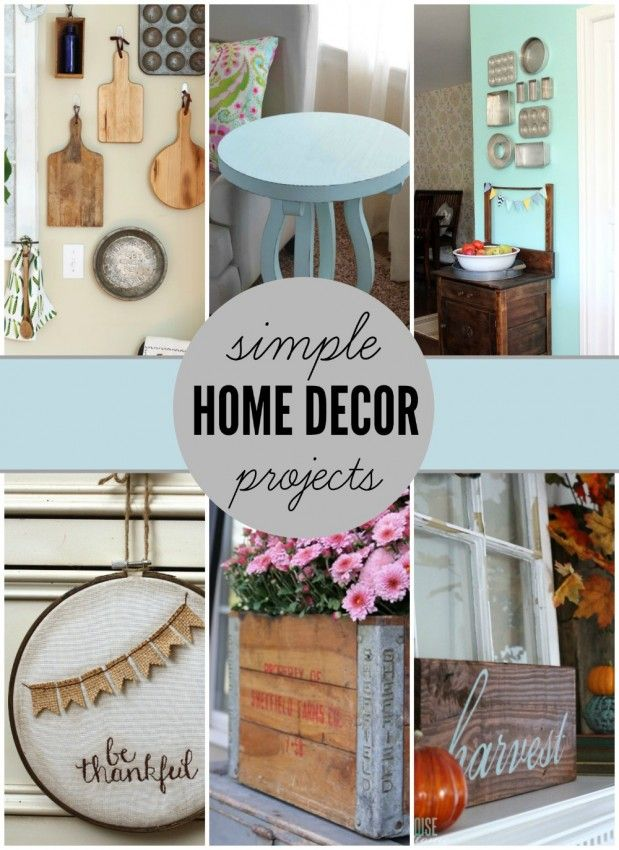 There is something so rewarding about creating something unique for your home. So come get inspired and check out these simple home decor projects!