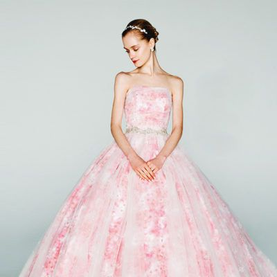 A Dash of Romance! 30 Wedding Dresses With a Touch of Pink!