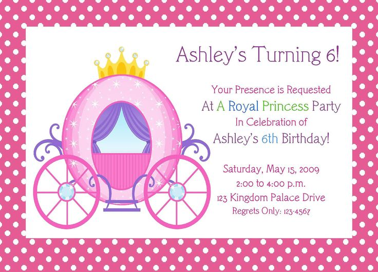 26 best Girlu0027s Birthday Party images on Pinterest Birthdays - free template for birthday invitation