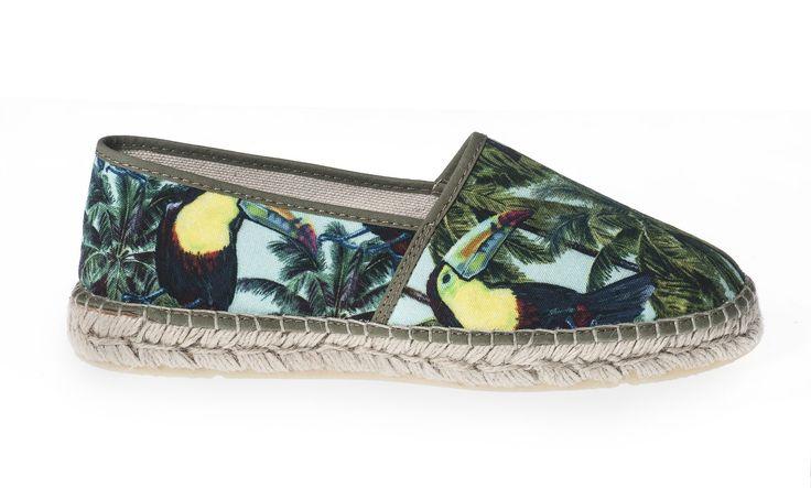 Espadrille Toucan #toucan #toekan #espadrille #ladies #shoes #spring #summer #perfectshoeforunderjeans   Shop now: http://www.studioreve.nl/product/espadrille-toucan/