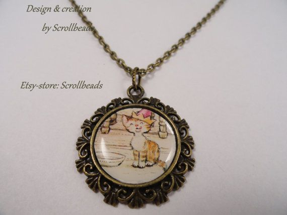 Sarah Kay party kitten lovely amulet with genuine by Scrollbeads