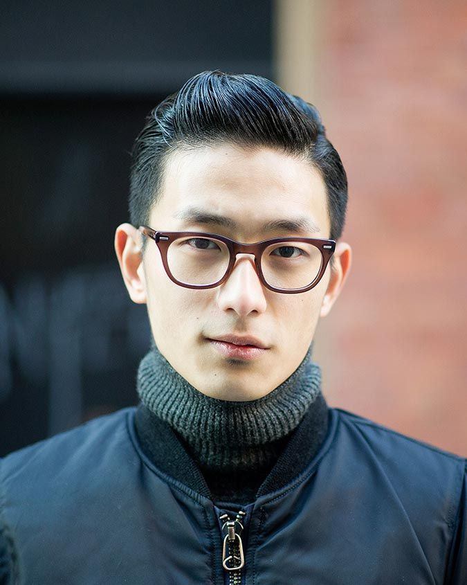 Slicked Back with Glasses *** See the whole article at Haircut Inspiration >>> http://haircutinspiration.com/haircuts-for-men-with-glasses #glasses #haircuts #men #fashion