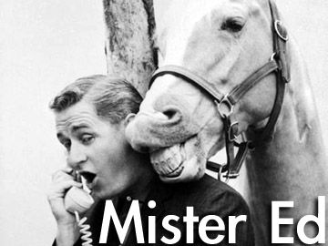 now we kinda though that Mr. Ed really talked
