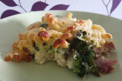 Nudelauflauf mit Brokkoli und Schinken 1