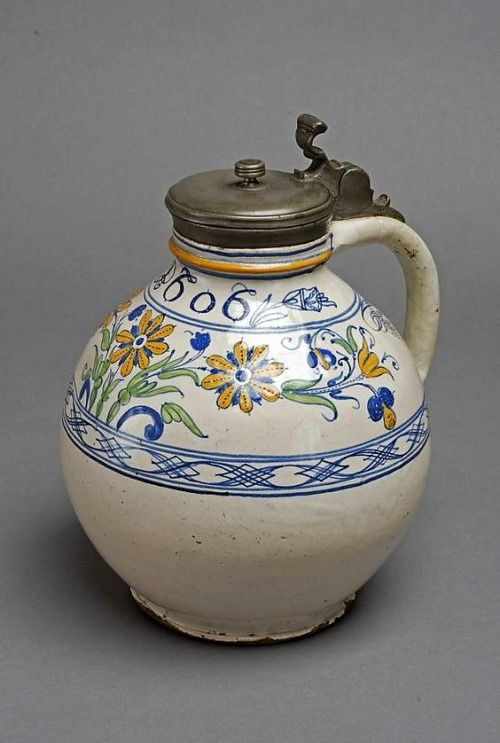 flic.kr/p/9nmsTE | Haban jug with lid | Haban jug with lid Moravia, early 17th century Museum of Applied Arts, Budapest  flickr.com