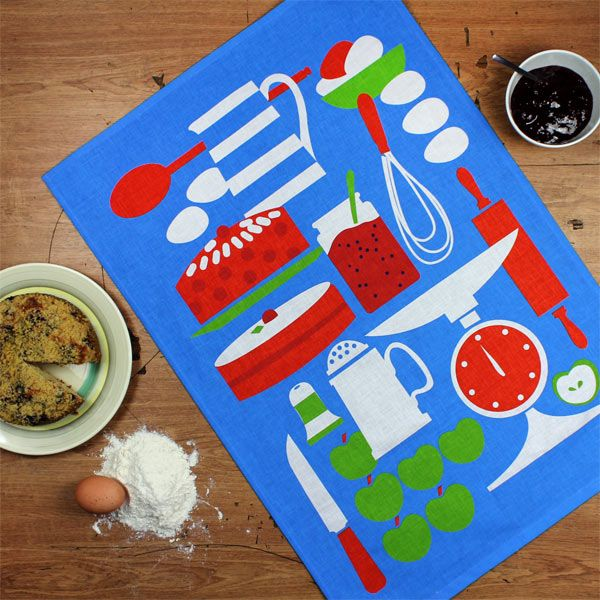 Kitchen Baking tea towel by Daphne Padden (1927-2009) - Designer tea towels from ToDryFor.com