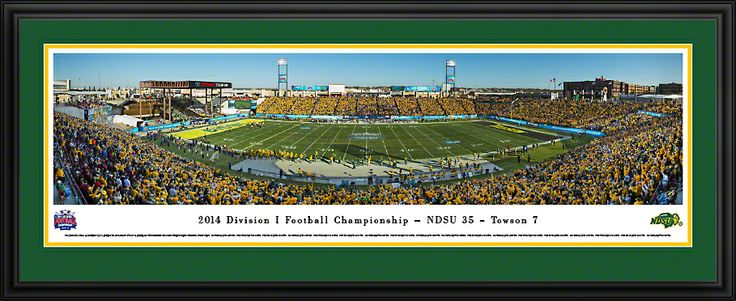 NDSU Bison FCS Championship Panoramic- bought cuz we could see ourselves in the crowd! So cool!