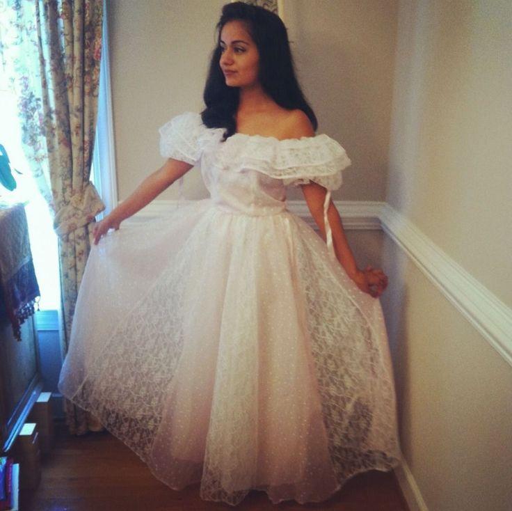80 S Southern Belle True Vintage Prom Wedding Dress Sissy