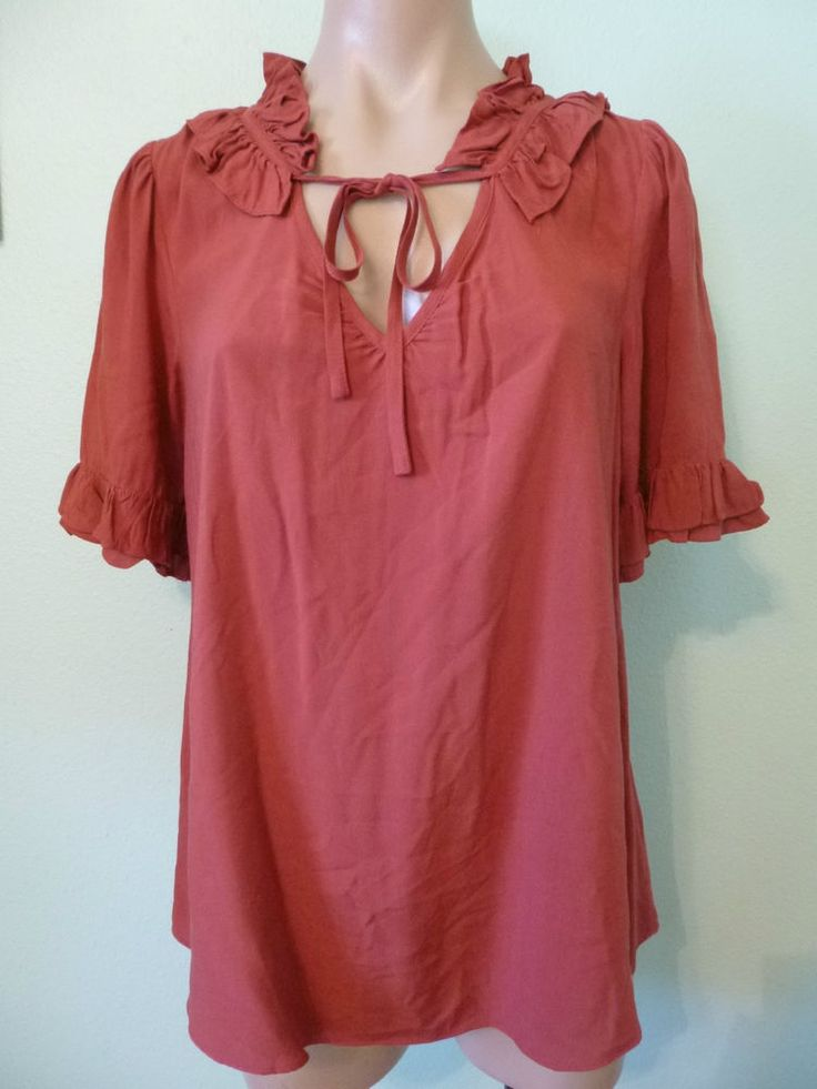 Ruffle Neck Blouse Anthropologie 64